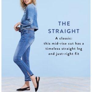 LOFT Straight Leg Crop Jeans Released Hem 29 / 8